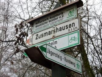 Wegweiser Jägersteig Hubertussteig