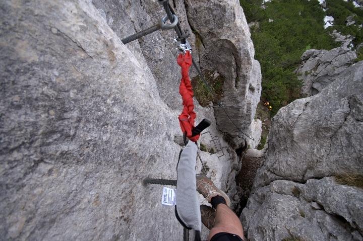 Klettersteig Chiemgau : Klettersteig schustergangl chiemgauer steinplatte 1.869m