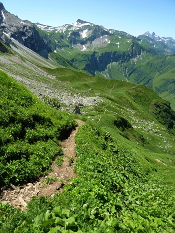 Abstieg Richtung Mitteleck