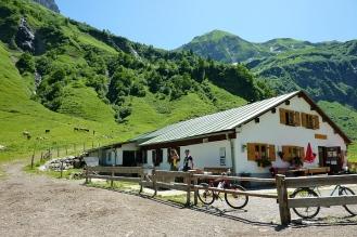 Käser-Alpe, ein beliebtes Anfahrtsziel für Mountainbiker