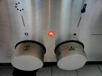 Ofen 2min auf 90°C vorheizen