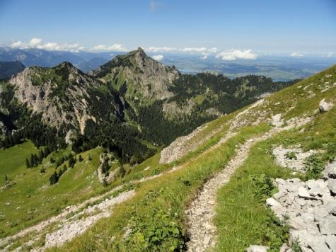 Abstieg Richtung Niederstraußbergsattel