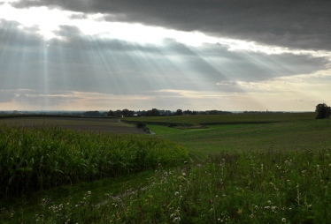 16km durch den Meringer Hartwald: Wolkenspiele über Reifersbrunn