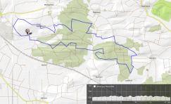 Laufstrecke Meringer Hartwald 16km
