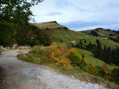 Traverse Richtung Obere Strinden Alpe