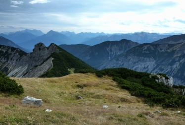 Blick in die Lechtaler Alpen Richtung Alpenhauptkamm