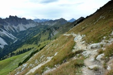 Abstieg von der Sulzspitze