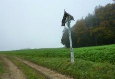 Ein reich verziertes Feldkreuz unweit Malzhausen