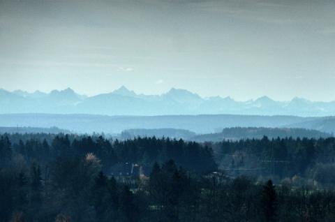 Fernsicht in die Allgäuer Alpen