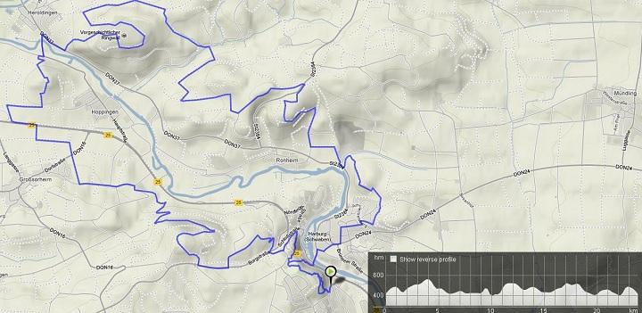 Route Rund um Harburg  Bikemap