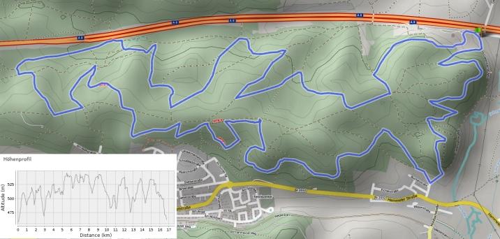 17km Trailrun Rund um den Loderberg (Aystetten/Edenbergen)